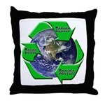 Reduce Reuse Recycle Earth Throw Pillow