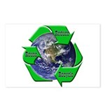 Reduce Reuse Recycle Earth Postcards (Package of 8