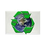 Reduce Reuse Recycle Earth Rectangle Magnet (100 p