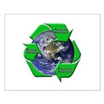 Reduce Reuse Recycle Earth Small Poster