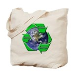 Reduce Reuse Recycle Earth Tote Bag