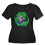 Reduce Reuse Recycle Earth Women's Plus Size Scoop