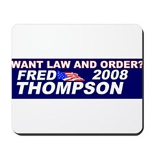 Law and Order Mousepad