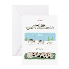 "Keeshond ""Love Joy Peace"" Greeting Card"