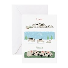"Keeshond ""Love Joy Peace"" Greeting Cards (Pk of 20"
