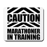Marathoner In Training Mousepad