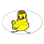 Chicks In Charge Oval Sticker