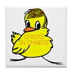 Chicks In Charge Tile Coaster