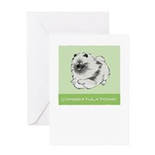 Keeshond Congratulations Greeting Card