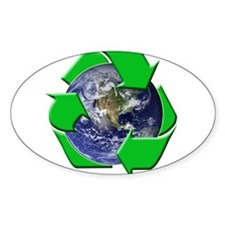 Earth Day Recycle Oval Decal