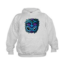 Purple and Blue Tiki Hoodie
