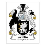 Griffin Family Crest Small Poster