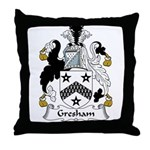 Gresham Family Crest Throw Pillow
