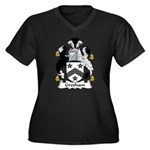 Gresham Family Crest Women's Plus Size V-Neck Dark