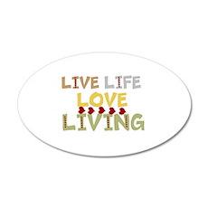 LIVE Life, LOVE Living Wall Sticker