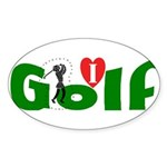 Ladies Golf Oval Sticker
