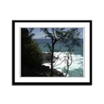 Hawaii Beach Framed Panel Print
