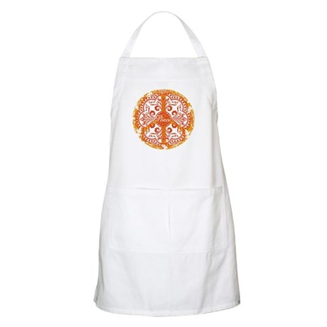 funky peace sign BBQ Apron