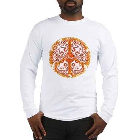 funky peace sign Long Sleeve T-Shirt