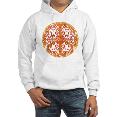 funky peace sign Hooded Sweatshirt