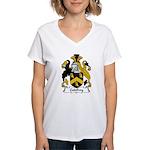 Godfrey Family Crest  Women's V-Neck T-Shirt