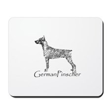 Cute German pinscher Mousepad