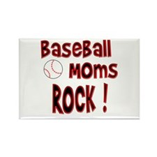 Baseball Moms Rock ! Rectangle Magnet (100 pack)