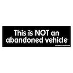 NOT an Abandoned Vehicle Bumper Sticker