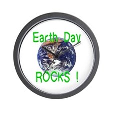 Earth Day Rocks ! Wall Clock