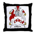 Gilbert Family Crest Throw Pillow
