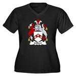 Gilbert Family Crest Women's Plus Size V-Neck Dark