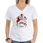 Gilbert Family Crest Women's V-Neck T-Shirt