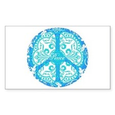 funky peace sign Rectangle Decal