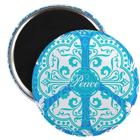 "funky peace sign 2.25"" Magnet (100 pack)"
