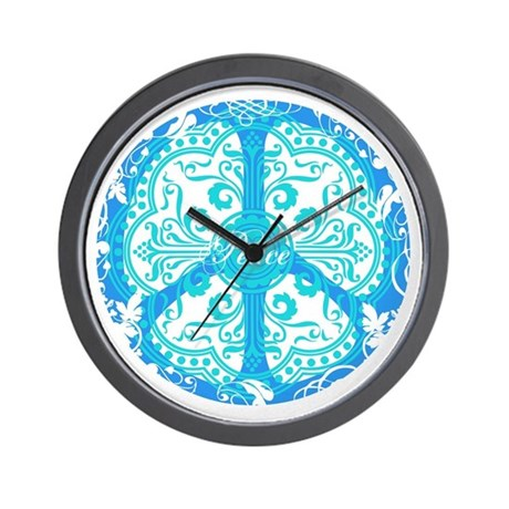 funky peace sign Wall Clock