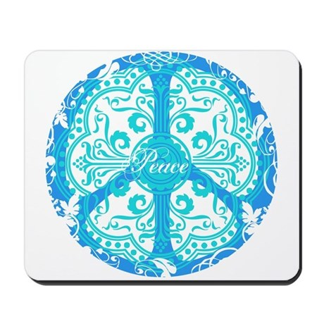 funky peace sign Mousepad