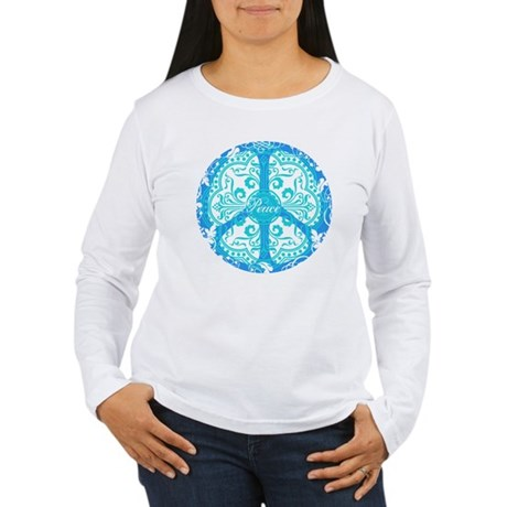 funky peace sign Women's Long Sleeve T-Shirt