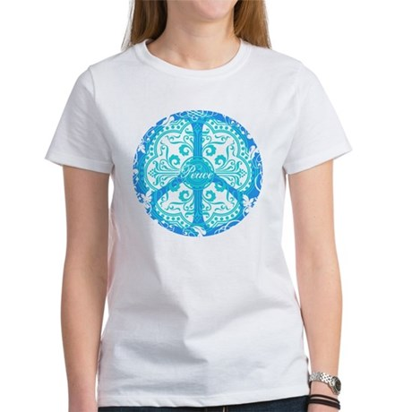 funky peace sign Women's T-Shirt