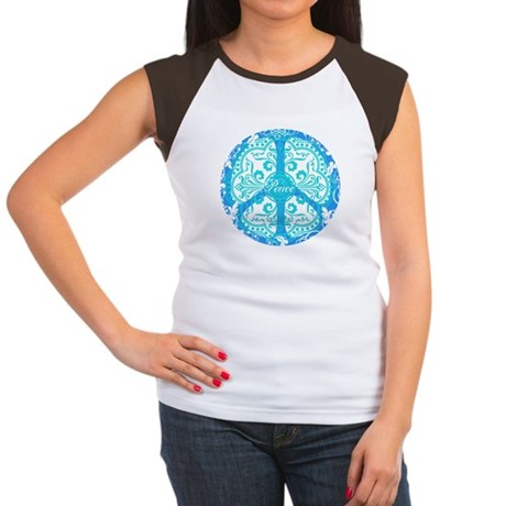 funky peace sign Women's Cap Sleeve T-Shirt