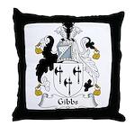 Gibbs Family Crest Throw Pillow