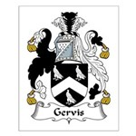 Gervis Family Crest Small Poster