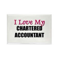 I Love My CHARTERED ACCOUNTANT Rectangle Magnet