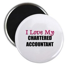 I Love My CHARTERED ACCOUNTANT Magnet