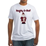 Naughty or Nice Fitted T-Shirt