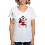 Garroway Family Crest Women's V-Neck T-Shirt