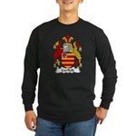 Garfield Family Crest Long Sleeve Dark T-Shirt