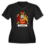 Garfield Family Crest Women's Plus Size V-Neck Dar