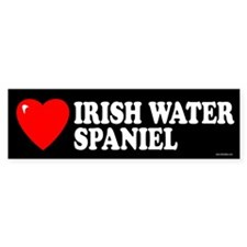 IRISH WATER SPANIEL Bumper Bumper Sticker