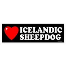 ICELANDIC SHEEPDOG Bumper Car Sticker