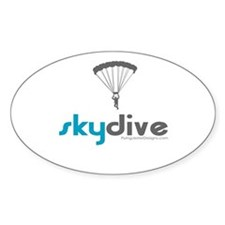 Blue Skydive Oval Decal